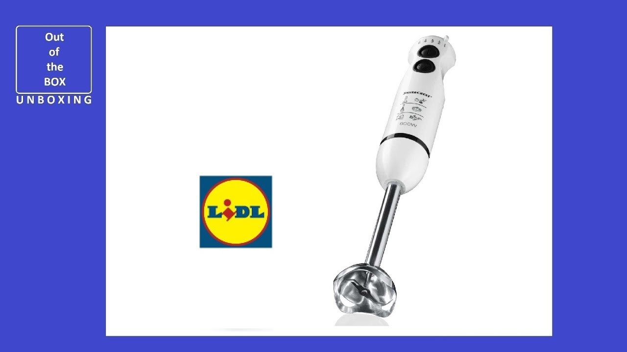 Lidl Silvercrest Nutrition Mixer Review Silvercrest Hand Blender Set Ssms 600 C3 Unboxing Lidl 600w Blending Pureeing Choping 3 In 1