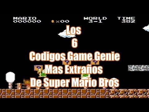 TOP 6: Los 6 Códigos Game Genie Mas Extraños De Super Mario Bros
