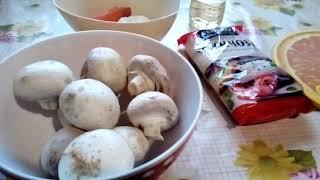 Хобби. Фунчоза с грибами.