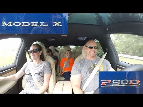 Tesla Model X P90D Ludicrous first drive with quick 0-60 MPH