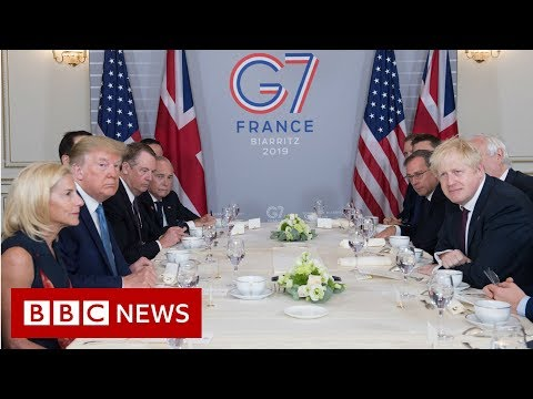 G7: Trump praises Johnson as 'right man' to deliver Brexit - BBC News