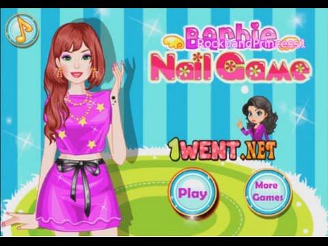 Barbie Nail Art Games Youtube