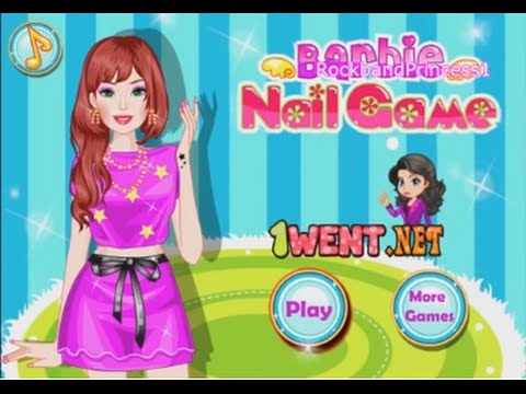 Barbie nail art games youtube barbie nail art games prinsesfo Choice Image