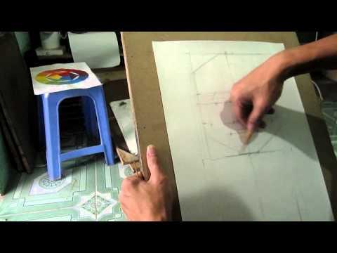 Video hướng dẫn dạy vẽ tượng thạch cao -Bước 1