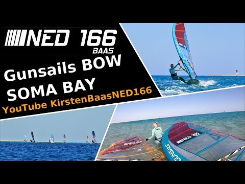 WINDSURFING -Impressions Of The GUNSAILS BOW 8,7 Versus  VECTOR 8,6 - Spot Soma Bay, Egypt