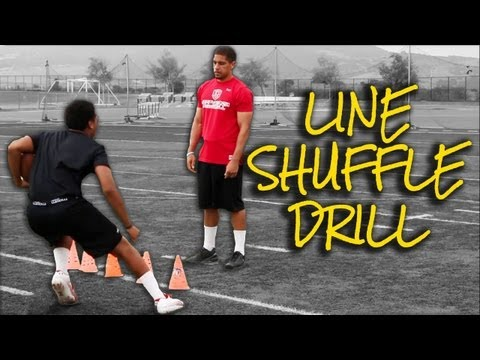 Running Back Drills - Press the Line / Side Shuffle