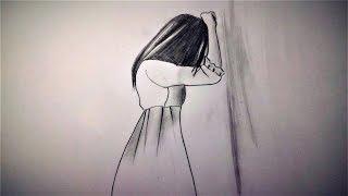 sad drawing drawings depressed depressing draw pencil sketch step paintingvalley