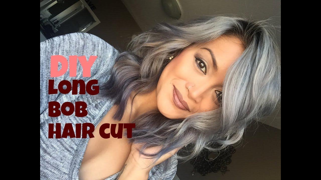 DIY Long Bob Haircut Tutorial YouTube