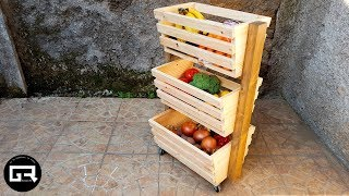 MUEBLE de MADERA para FRUTAS y VERDURAS / WOODEN FRUIT HOLDER