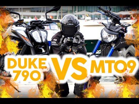 KTM Duke 790 TOP SPEED VS Yamaha MT 09