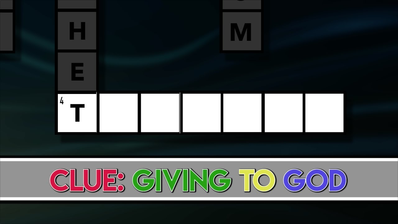 Crossword Clue Giving To God Youtube