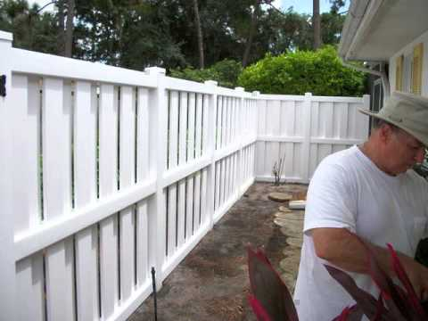 White Vinyl Fence Post Can Extension Youtube