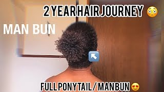 MAN BUN HAIR TUTORIAL ( 2 YEARS )
