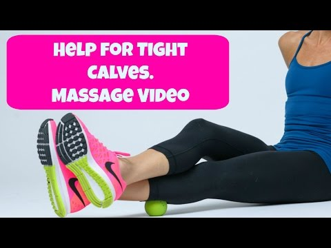 Help for Tight Calves. BEST Calf Stretching and Massage Routine.