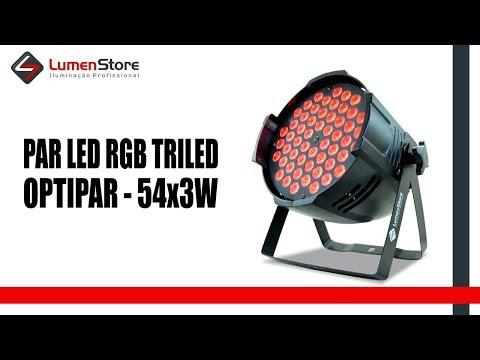 Par LED RGB Optipar - 54x3W - Triled - Lumen Store
