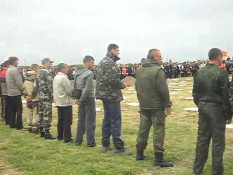 Перезахоронение останков советских воинов  Армянск 2015