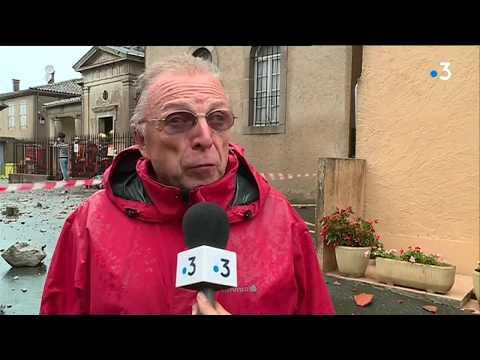 Tarn : Frappé Par La Foudre, Le Clocher De L'église De Saint-Amans-Soult S'effondre