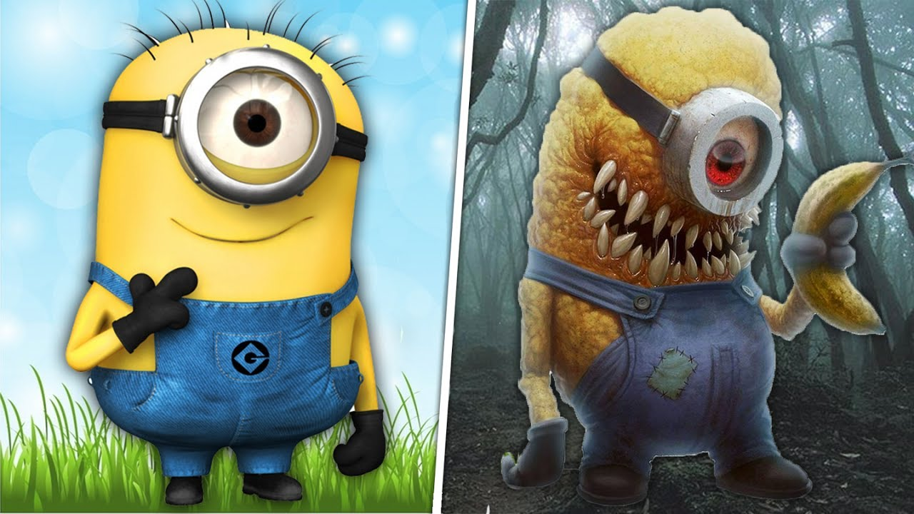 Cartoon Characters Monsters : Cartoon characters as monsters 😱 youtube