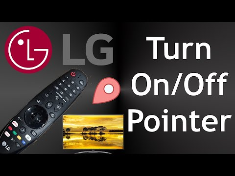 LG TV Magic Remote Turn On/off The Pointer 2019 Smart TV's
