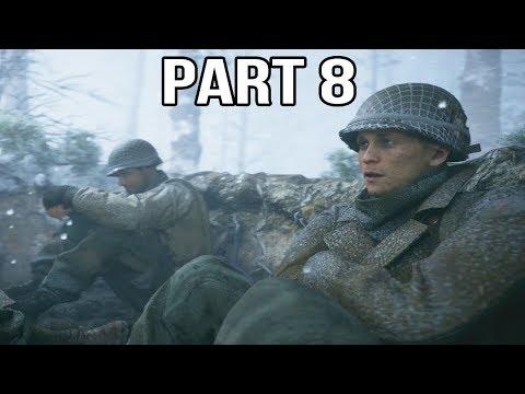 Call of Duty WW2 Gameplay Walkthrough Part 8 - Battle of the Bulge