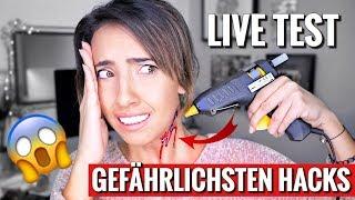 Mit Heißkleber Narben erzeugen! | Gefährlichsten Hacks, DIY & Trends Live Test | #SoSoUnnötig