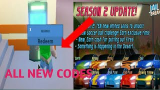 *ALL NEW SEASON 2 CODES* Roblox Jailbreak ✔ Must Have* Roblox Giftcard Giveaway