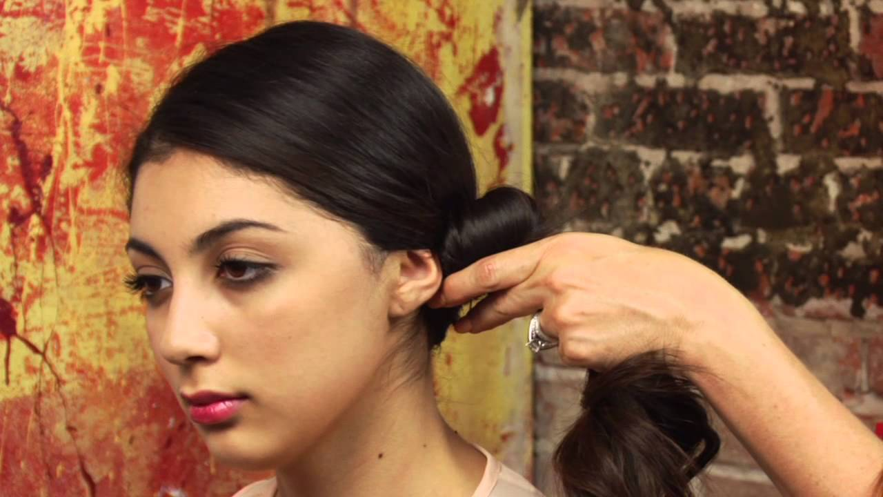 How To Do A Low Side Bun For Dance Mane Street Youtube