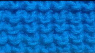 Вязание спицами .Узор ёжик #6