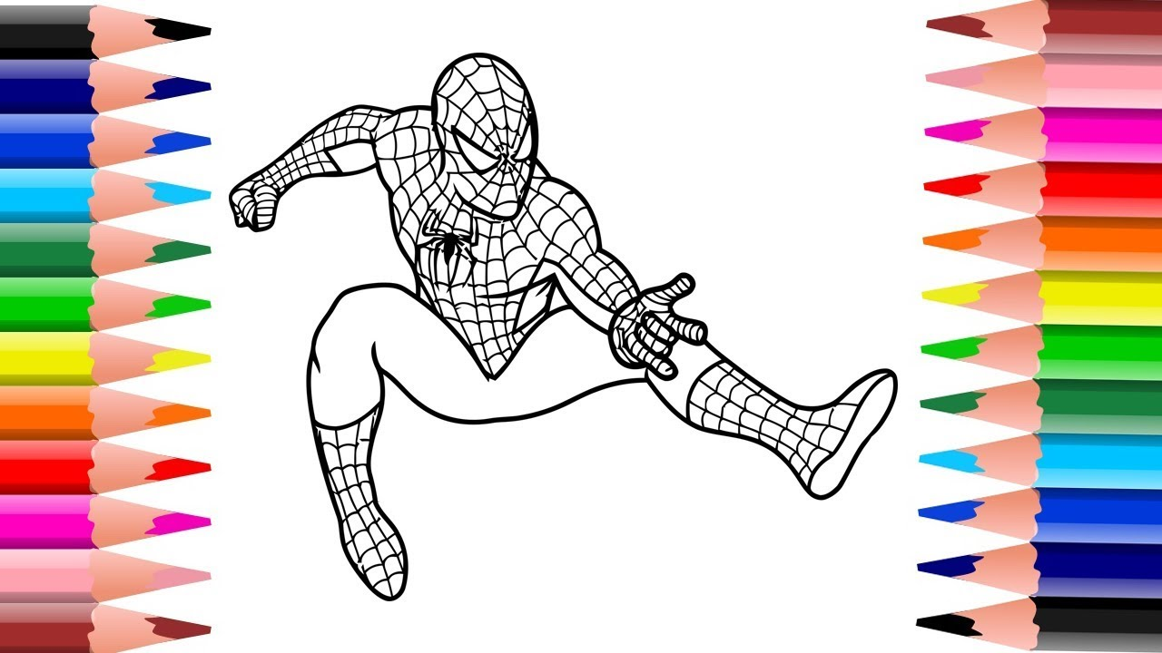 Coloring Book Pages Spider Man YouTube