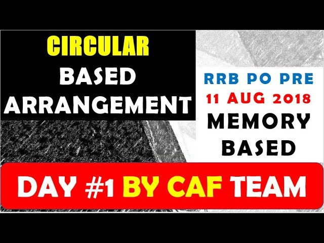 Circular Arrangement Inside Outside  - RRB PO PRE MEMORY BASED || 11 AUGUST 2018 DAY 1