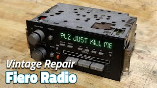 1985 Fiero Radio Repair! | Saturday Projects