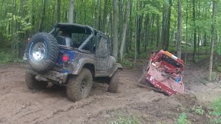 part 2 jeep fries winch by bsf recovery team