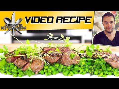 Garlic & Lemon Lamb with Pea Smash | Nicko's Kitchen
