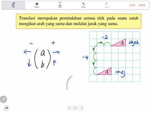 Bab 11 Matematik Tingkatan 2 Part 1 Translasi Youtube