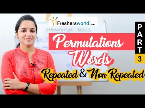 Aptitude Made Easy - Permutations Part 3 – Words, Repeated And Non Repeated Letters, Math Tricks