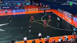 Микроанализ Оборона 3х4 Каи рат Бенфика Футзал Лига чемпионов