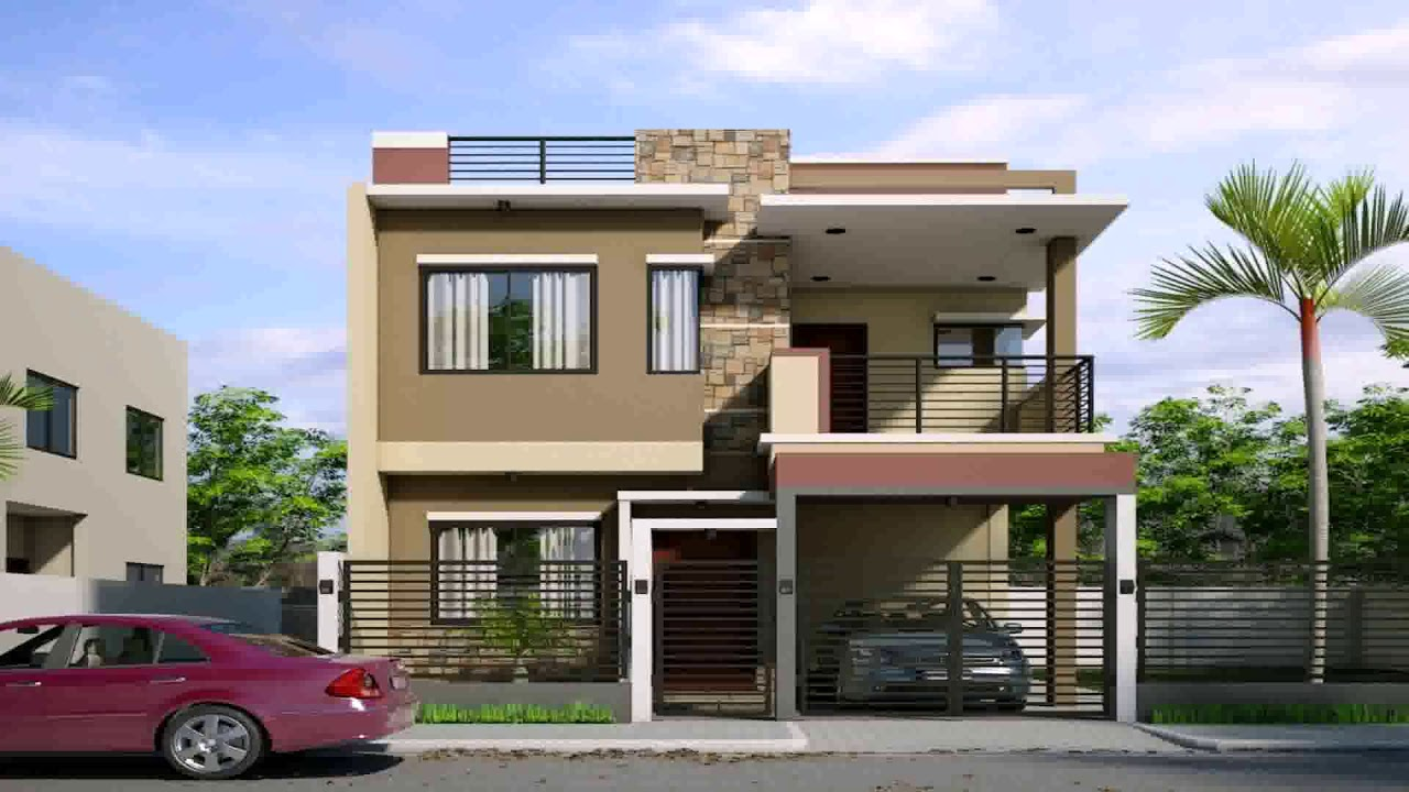 2 Storey Small House Design Philippines With Floor Plan Youtube