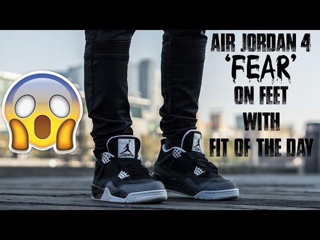 AIR JORDAN 4 'FEAR' ON FEET W/ FOTD +