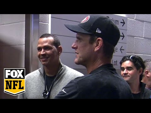 A-Rod congratulates Harbaugh after final game as San Francisco 49ers coach