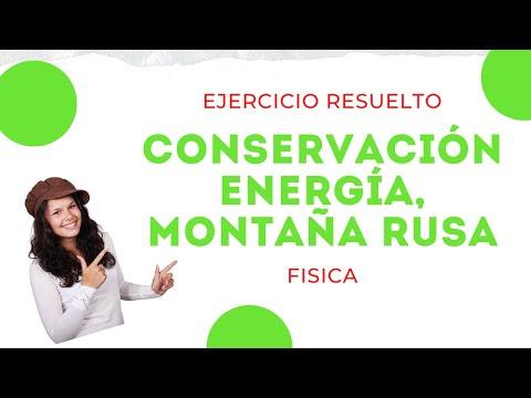 Ejercicio conservación energía, montaña rusa - YouTube