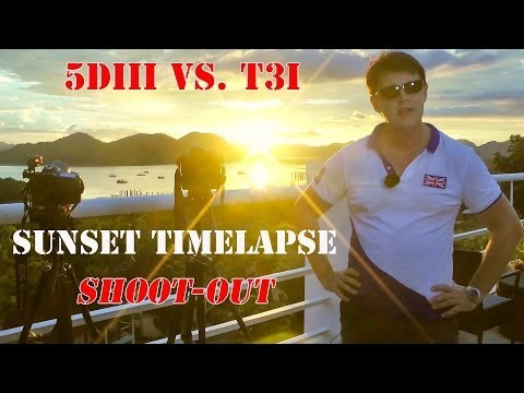 Canon 5DIII vs.600d Sunset Timelapse Shootout