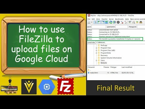 How to use FileZilla to upload files on Google Cloud Compute Engine VM Instance