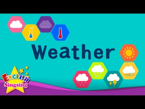 Kids vocabulary - Weather - How's the weather? - Learn Engli