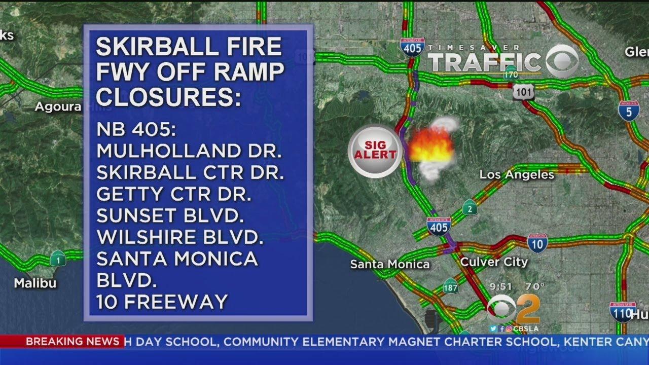 Bel Air Homes Evacuated In Skirball Fire Youtube