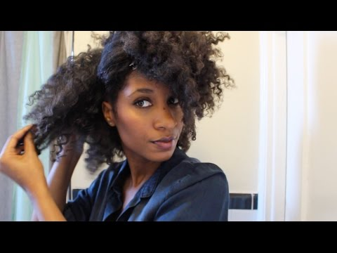 natural hair blow dry & styling