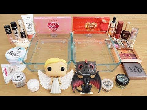 Angels vs Dragons - Mixing Makeup Eyeshadow Into Slime Special Series 224 Satisfying Slime Video