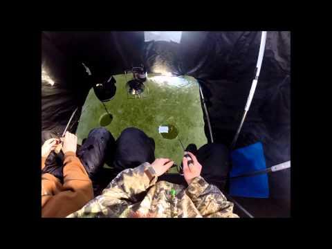 Walleye slayers early ice panfish youtube for Brinkman s fishing report