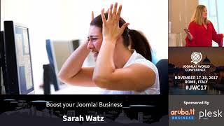 Boost your Joomla! business - Sarah Watz