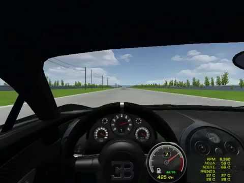 rfactor bugatti veyron super sport 39 s speed test youtube. Black Bedroom Furniture Sets. Home Design Ideas