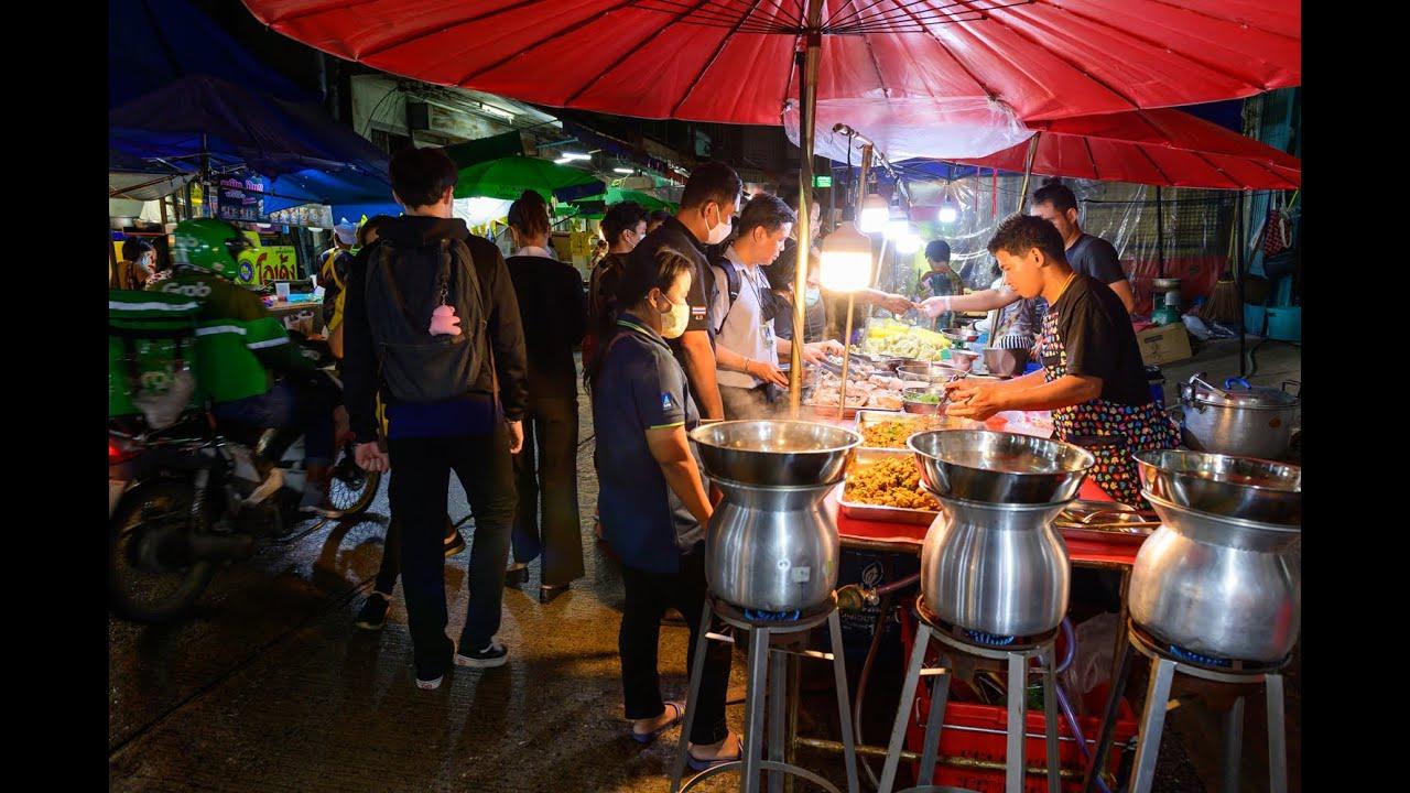 [4K] 2020 Night Thai street food at Sukhumvit 77/1 Alley, Bangkok